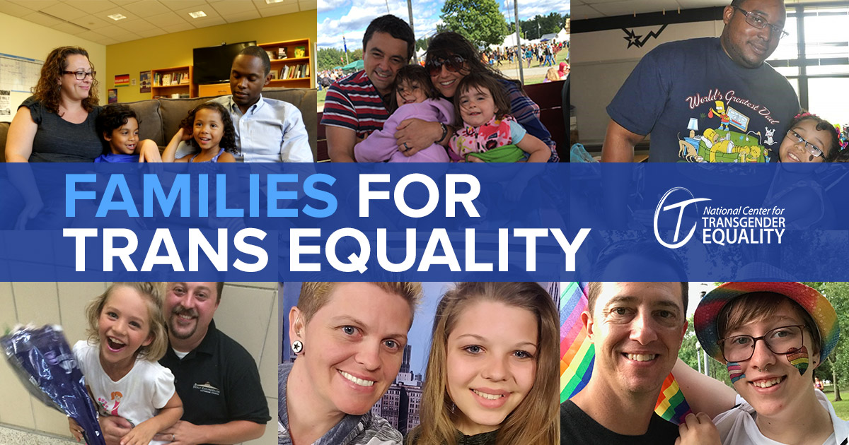 Families for Trans Equality banner